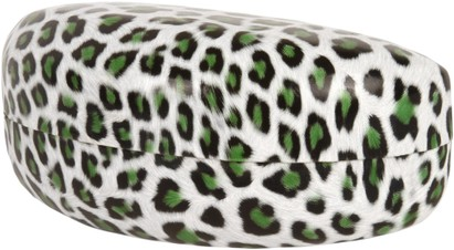 Angle of Extra Large Leopard Print Case  in Green, Women's and Men's  Hard Cases