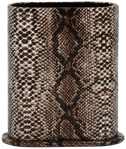 Angle of Snake Print Upright Reading Glasses Holder in Black Snake, Women's and Men's  Hard Cases