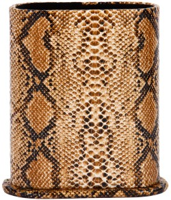 Angle of Snake Print Upright Reading Glasses Holder in Brown Snake, Women's and Men's  Hard Cases