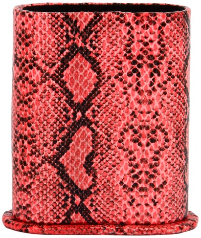 Angle of Snake Print Upright Reading Glasses Holder in Pink Snake, Women's and Men's  Hard Cases