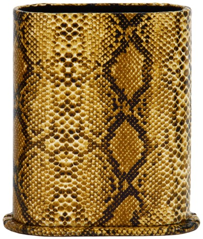 Angle of Snake Print Upright Reading Glasses Holder in Tan Snake, Women's and Men's  Hard Cases