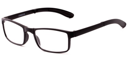 Angle of The Bolton Folding Reader in Black, Women's and Men's Rectangle Reading Glasses