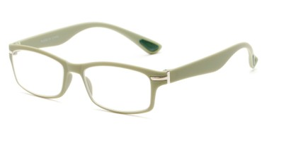 Angle of The Carnation Flexible Reader in Green, Women's and Men's Rectangle Reading Glasses