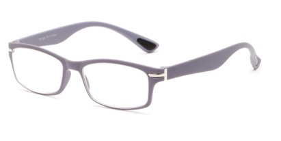 Angle of The Carnation Flexible Reader in Grey, Women's and Men's Rectangle Reading Glasses