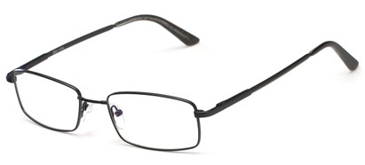 Angle of Chadwick by felix + iris in Black, Women's and Men's Rectangle Reading Glasses