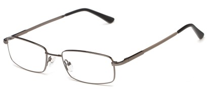 Angle of Chadwick by felix + iris in Grey, Women's and Men's Rectangle Reading Glasses