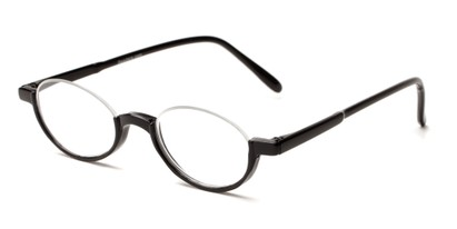 Angle of The Clover in Black, Women's and Men's Round Reading Glasses
