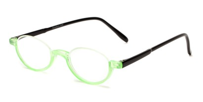 Angle of The Clover in Lime Green/Black, Women's and Men's Round Reading Glasses