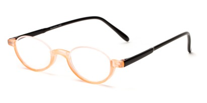 Angle of The Clover in Orange/Black, Women's and Men's Round Reading Glasses