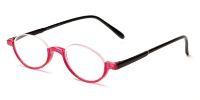 Angle of The Clover in Red/Black, Women's and Men's Round Reading Glasses