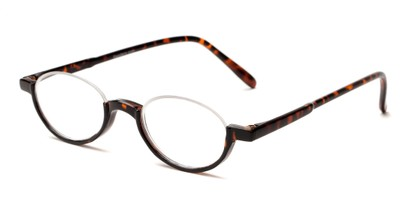 Angle of The Clover in Tortoise, Women's and Men's Round Reading Glasses