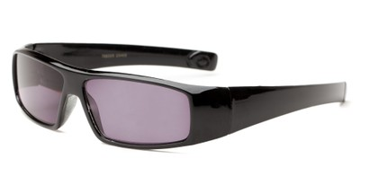 Angle of The Coldwater Reading Sunglasses in Black with Smoke, Women's and Men's Sport & Wrap-Around Reading Sunglasses