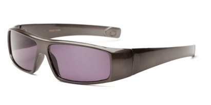 Angle of The Coldwater Reading Sunglasses in Grey with Smoke, Women's and Men's Sport & Wrap-Around Reading Sunglasses