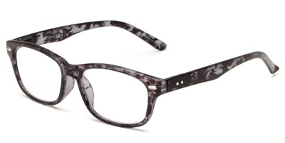 Angle of The Comet in Grey Tortoise, Women's and Men's Rectangle Reading Glasses