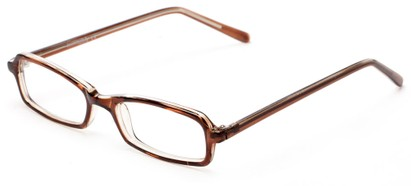 Angle of The Sedgwick Customizable Reader in Brown, Women's and Men's Retro Square Reading Glasses