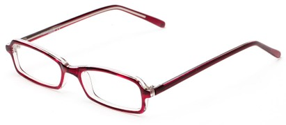 Angle of The Sedgwick Customizable Reader in Burgundy Red, Women's and Men's Retro Square Reading Glasses
