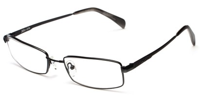 Angle of The Cumberland Customizable Reader in Black, Women's and Men's Rectangle Reading Glasses