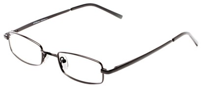 Angle of The Canal Customizable Reader in Matte Black, Women's and Men's Retro Square Reading Glasses