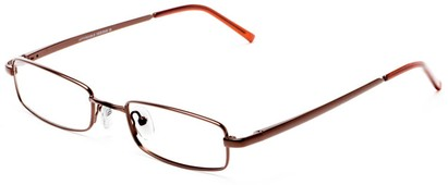 Angle of The Canal Customizable Reader in Matte Bronze, Women's and Men's Retro Square Reading Glasses