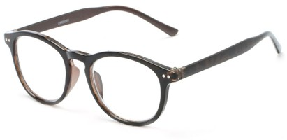 Angle of The Holden in Brown Tortoise, Women's and Men's Round Reading Glasses