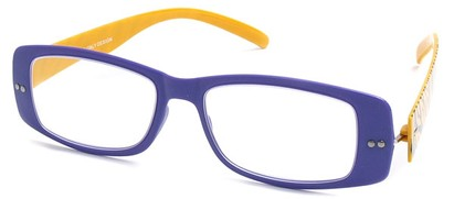 Angle of The Rio Flexible Reader in Purple and Yellow Zebra, Women's and Men's