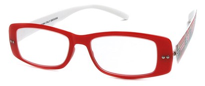 Angle of The Rio Flexible Reader in Red and White Plaid, Women's and Men's