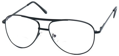 Angle of The Walter Bifocal in Black, Women's and Men's Aviator Reading Glasses