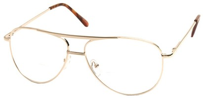 Angle of The Walter Bifocal in Gold, Women's and Men's Aviator Reading Glasses
