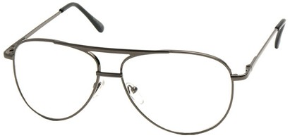 Angle of The Walter Bifocal in Grey, Women's and Men's Aviator Reading Glasses