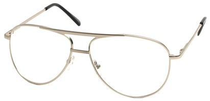 Angle of The Walter Bifocal in Silver, Women's and Men's Aviator Reading Glasses