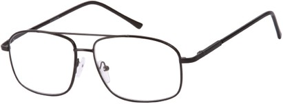 Angle of The Thorton in Black, Women's and Men's Aviator Reading Glasses