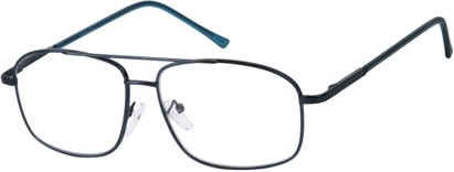 Angle of The Thorton in Blue, Women's and Men's Aviator Reading Glasses