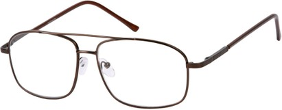 Angle of The Thorton in Bronze, Women's and Men's Aviator Reading Glasses