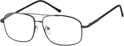 Angle of The Thorton in Grey, Women's and Men's Aviator Reading Glasses