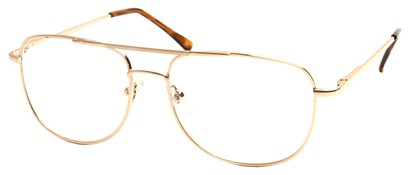 Angle of The Wallace in Gold Frame, Women's and Men's