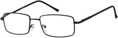 Angle of The Detective in Black, Women's and Men's Square Reading Glasses