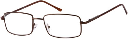 Angle of The Detective in Bronze, Women's and Men's Square Reading Glasses