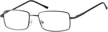 Angle of The Detective in Dark Grey, Women's and Men's Square Reading Glasses