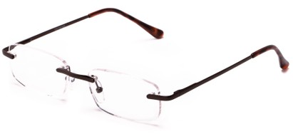 Angle of The Atticus in Bronze, Women's and Men's Rectangle Reading Glasses