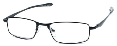Angle of The Fairfax in Black, Women's and Men's Rectangle Reading Glasses
