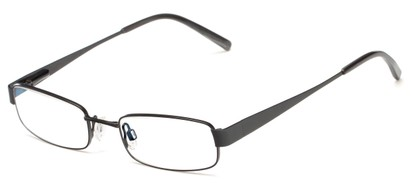 Angle of The Downey Customizable Reader in Matte Gunmetal, Women's and Men's Rectangle Reading Glasses