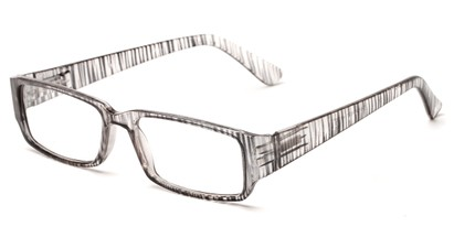 Angle of The Drexel in Black Stripe, Women's and Men's Rectangle Reading Glasses