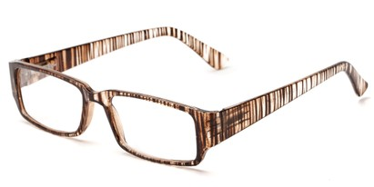 Angle of The Drexel in Brown Stripe, Women's and Men's Rectangle Reading Glasses
