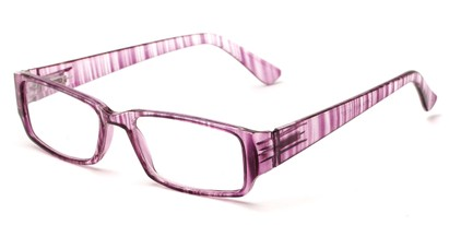 Angle of The Drexel in Pink Stripe, Women's and Men's Rectangle Reading Glasses