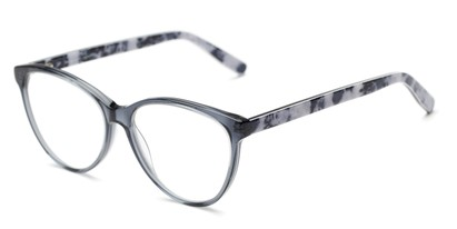 Angle of The Eden Signature Reader in Grey/Black Tortoise, Women's Cat Eye Reading Glasses