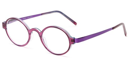 Angle of The Elton in Purple/Blue, Women's and Men's Round Reading Glasses