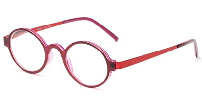 Angle of The Elton in Red/Purple, Women's and Men's Round Reading Glasses