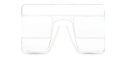 Angle of The eyeCard Reader in Clear, Women's and Men's