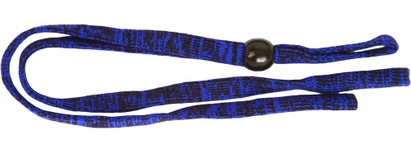 Angle of Sporty Neck Cord #20 in Blue/Black, Women's and Men's  Neck Cords