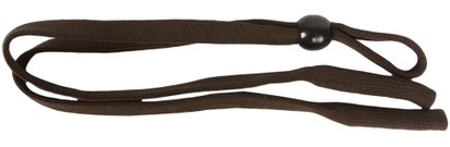 Angle of Sporty Neck Cord #20 in Brown, Women's and Men's  Neck Cords